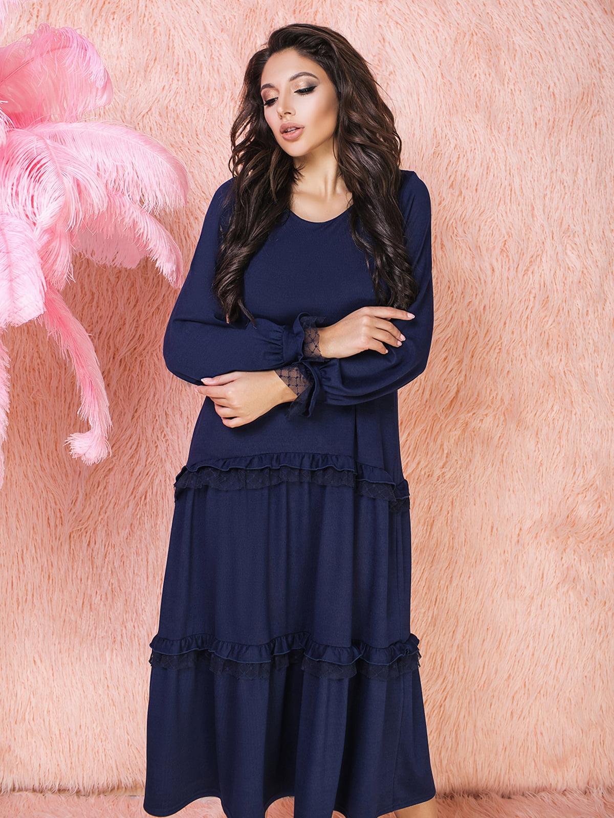 Платье темно-синее | 5574739
