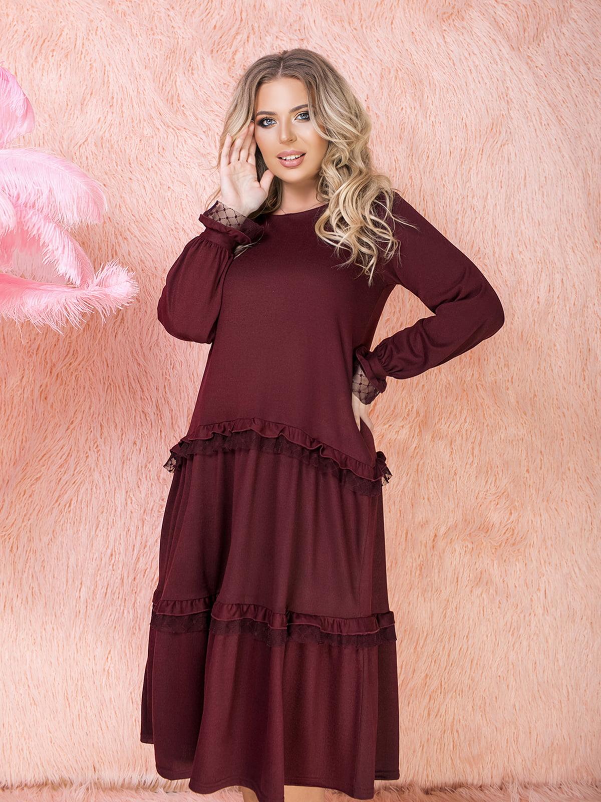 Сукня бордова | 5574742