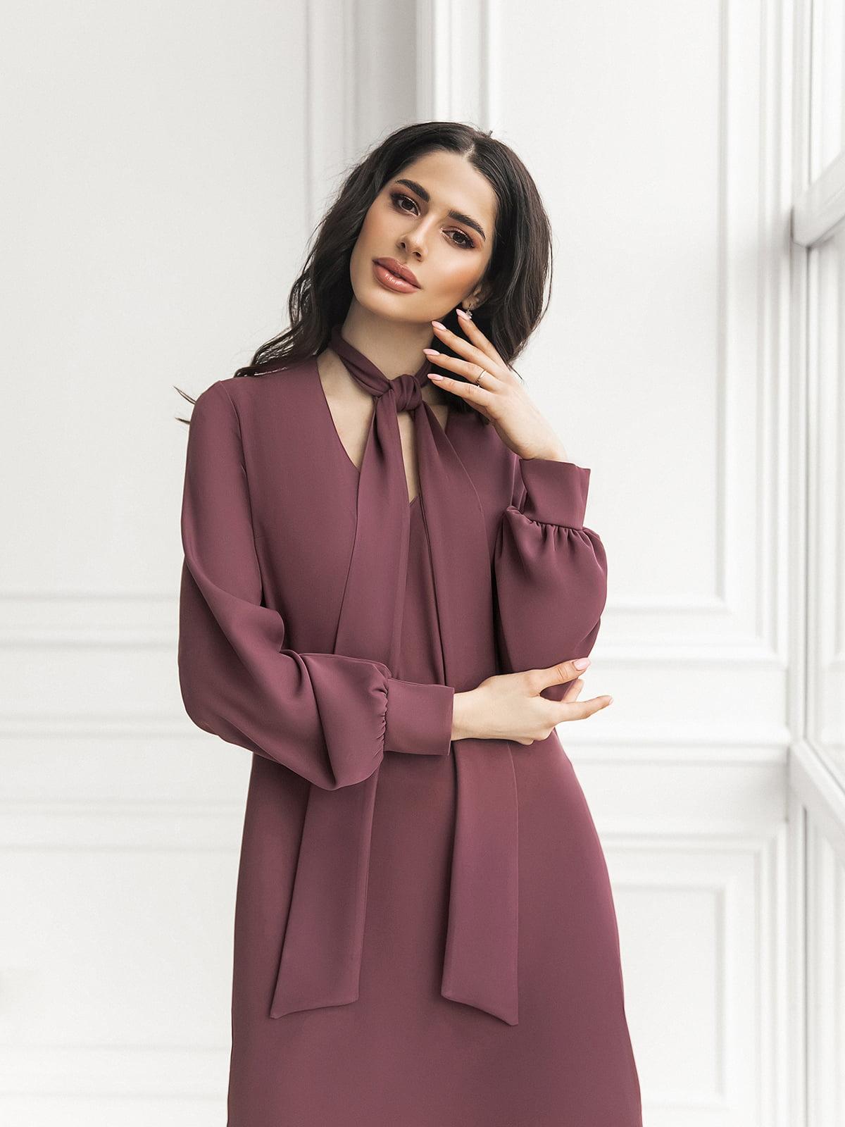 Платье цвета марсала | 5574771