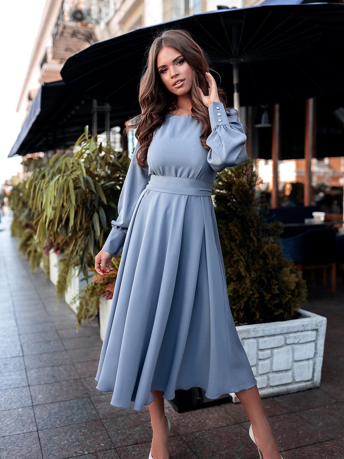 Сукня сіро-блакитна | 5574801