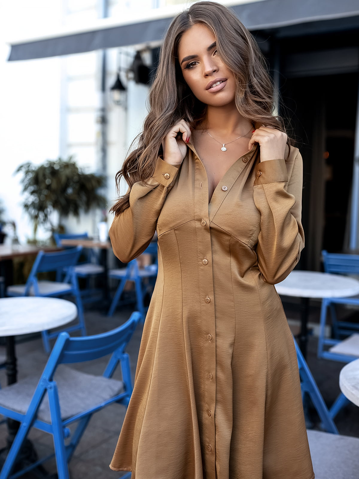 Платье горчичного цвета | 5574823