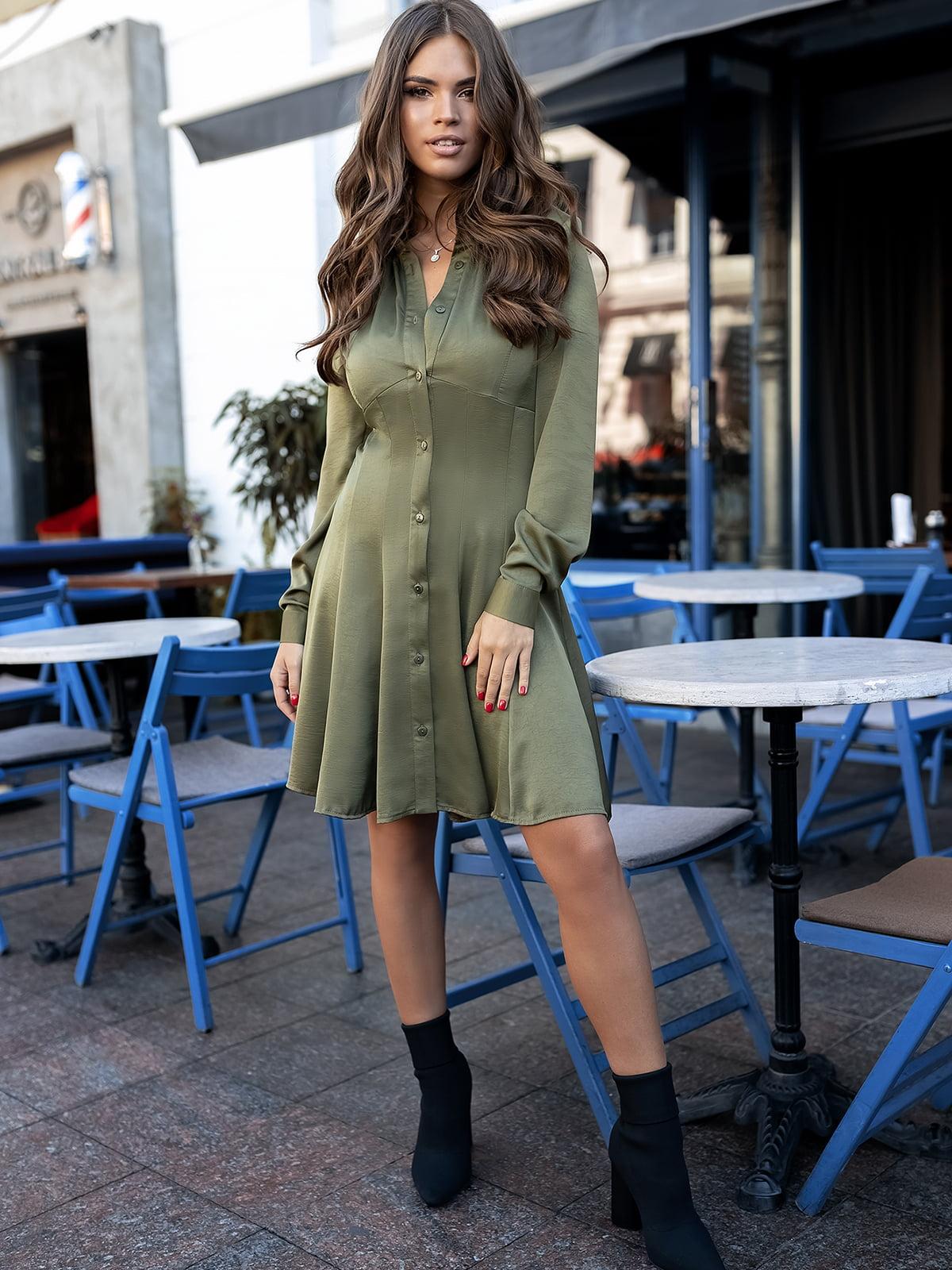 Сукня кольору хакі | 5574827