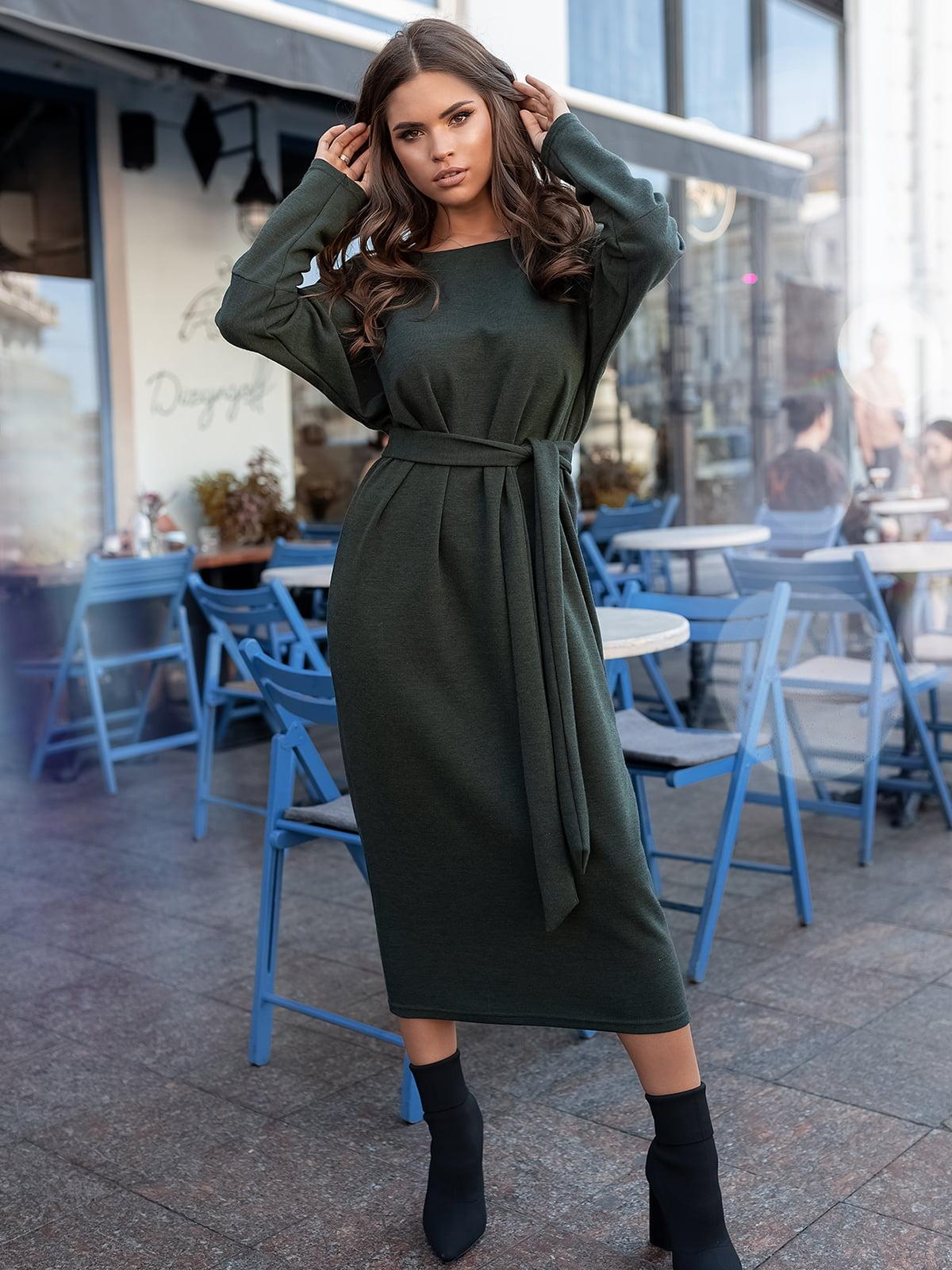 Сукня кольору хакі | 5574853