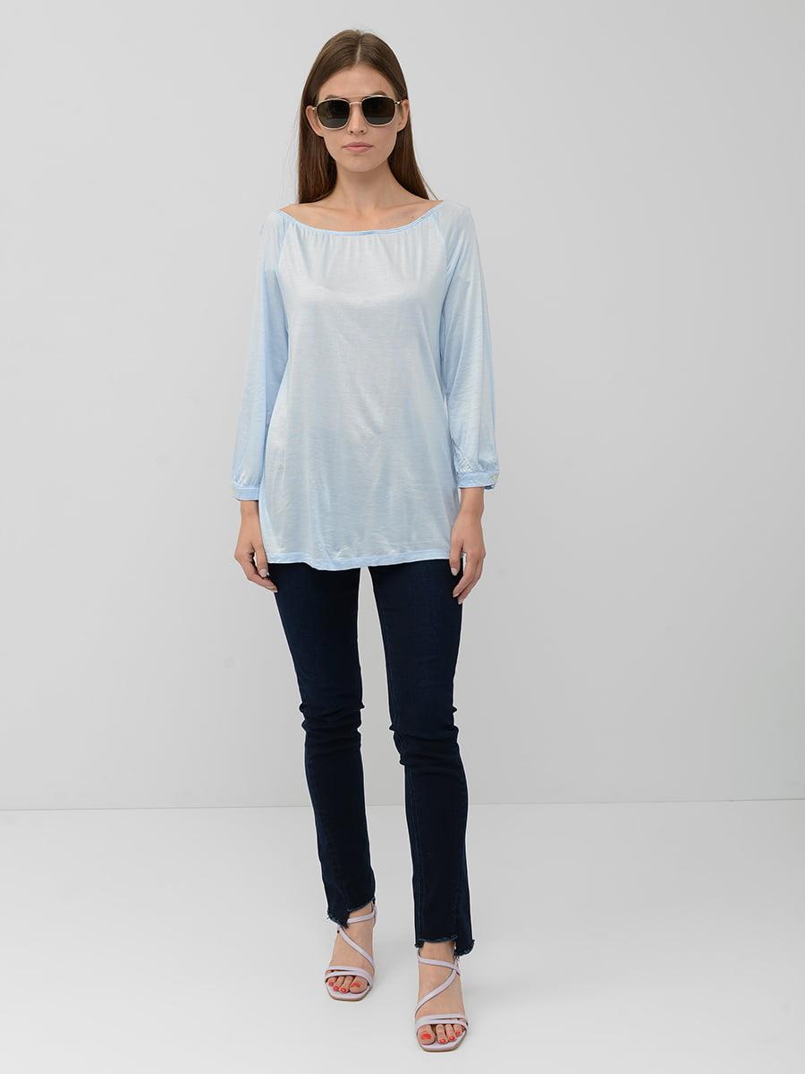 Блуза голубая | 5551451
