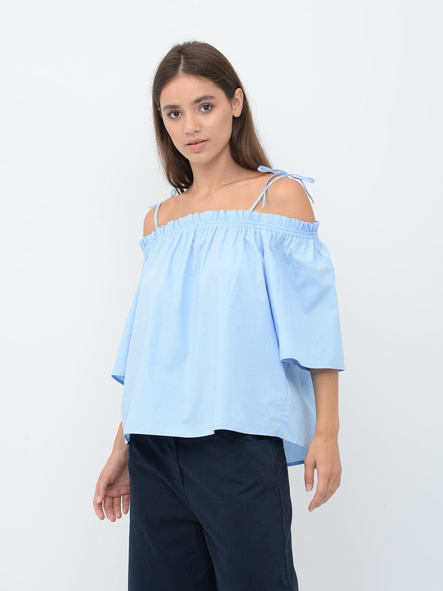 Блуза голубая | 5551516