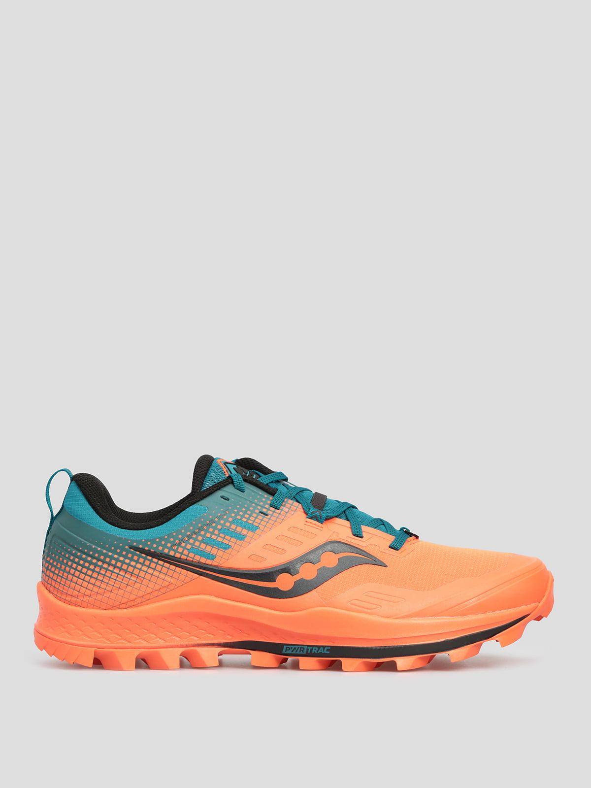 Кроссовки для бега оранжево-синие | 5576241