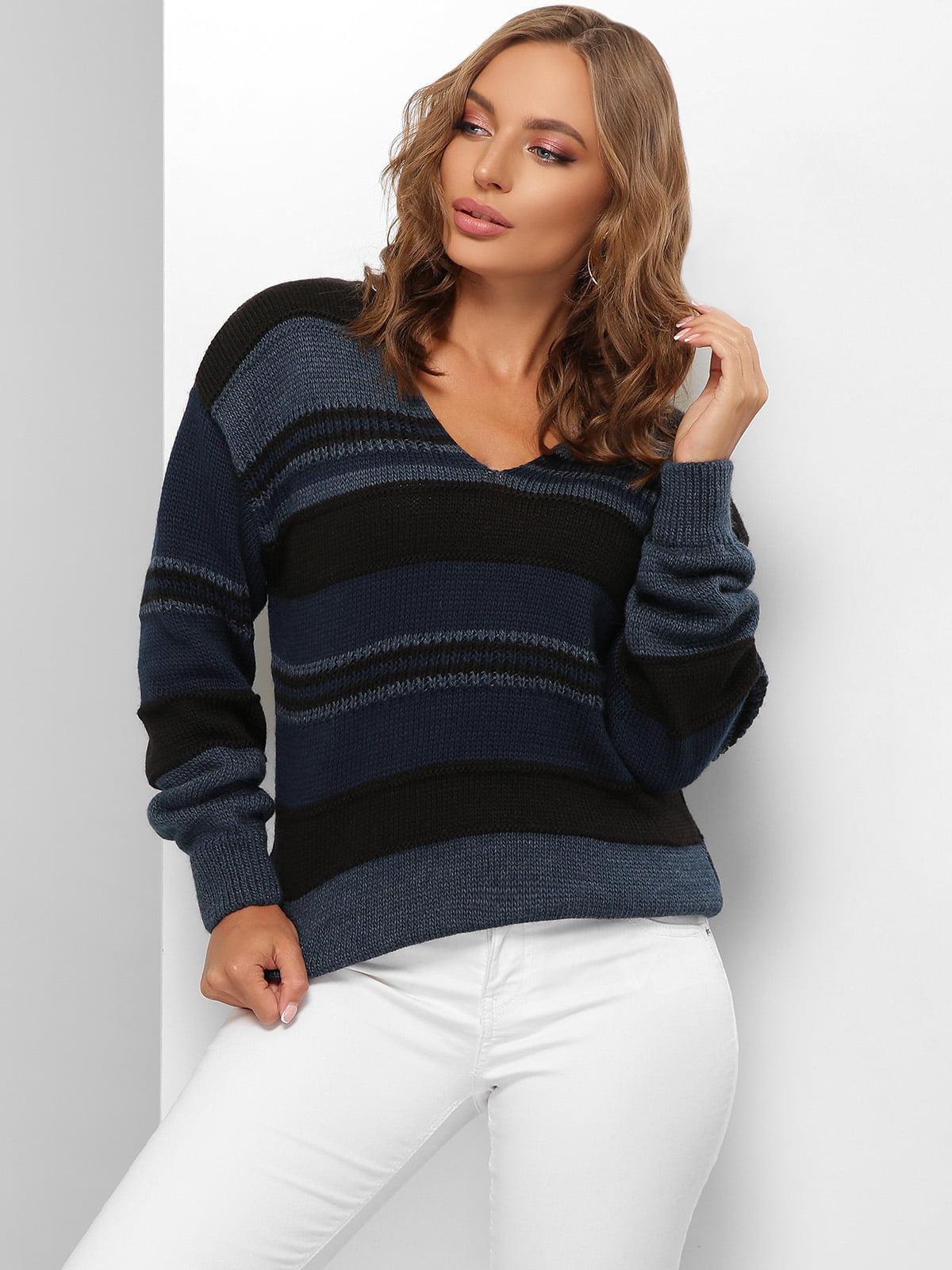 Пуловер в смужку | 5579847