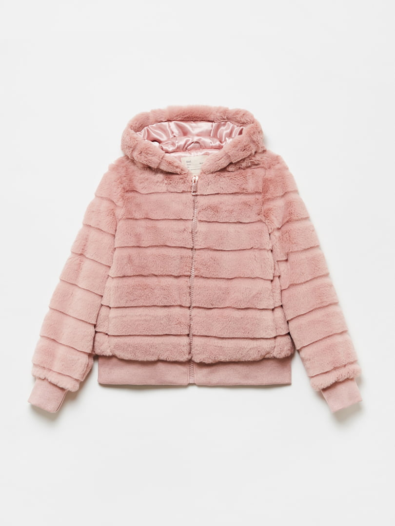 Полушубок розовый   5582896