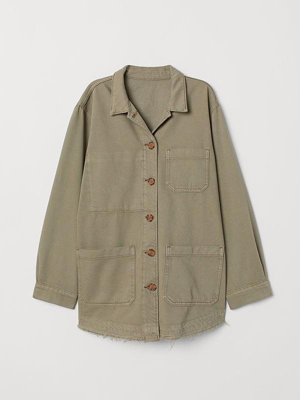 Куртка цвета хаки   5551878