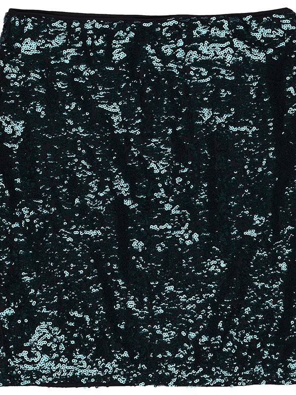 Юбка черно-зеленая с блестками   5450192