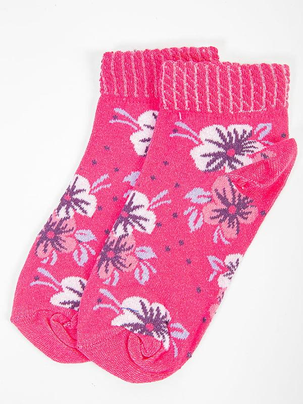 Носки розовые в принт | 5584928
