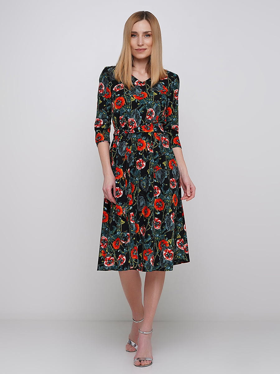 Платье в цветочный принт | 5591542