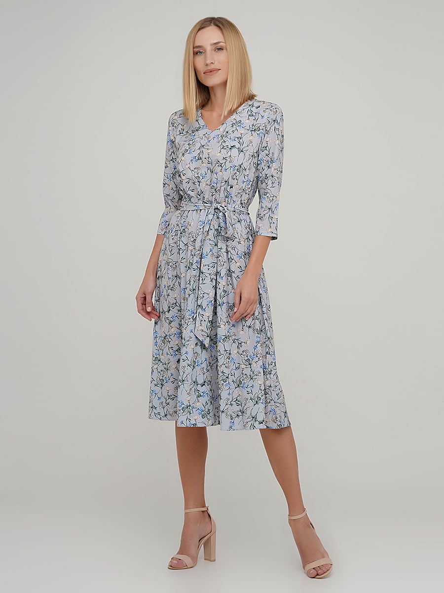 Платье в цветочный принт | 5591615