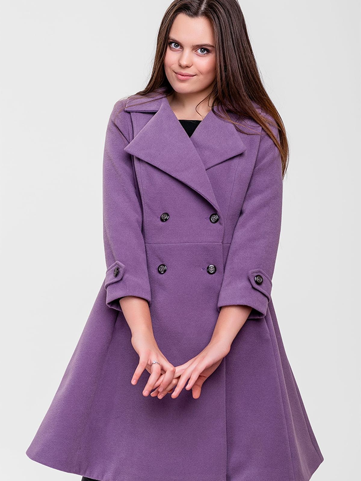 Пальто сиреневое | 5592215