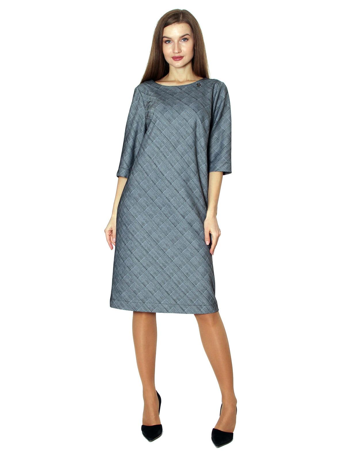 Платье серое в клетку | 5594419