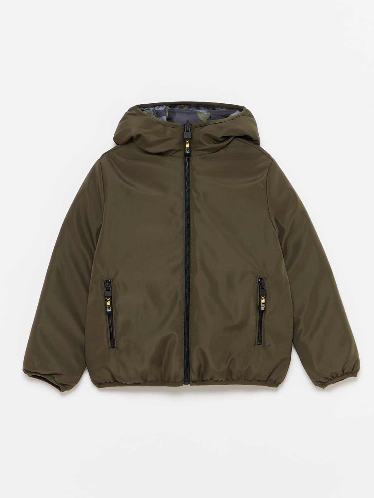 Куртка двостороння в камуфляжний принт   5595226
