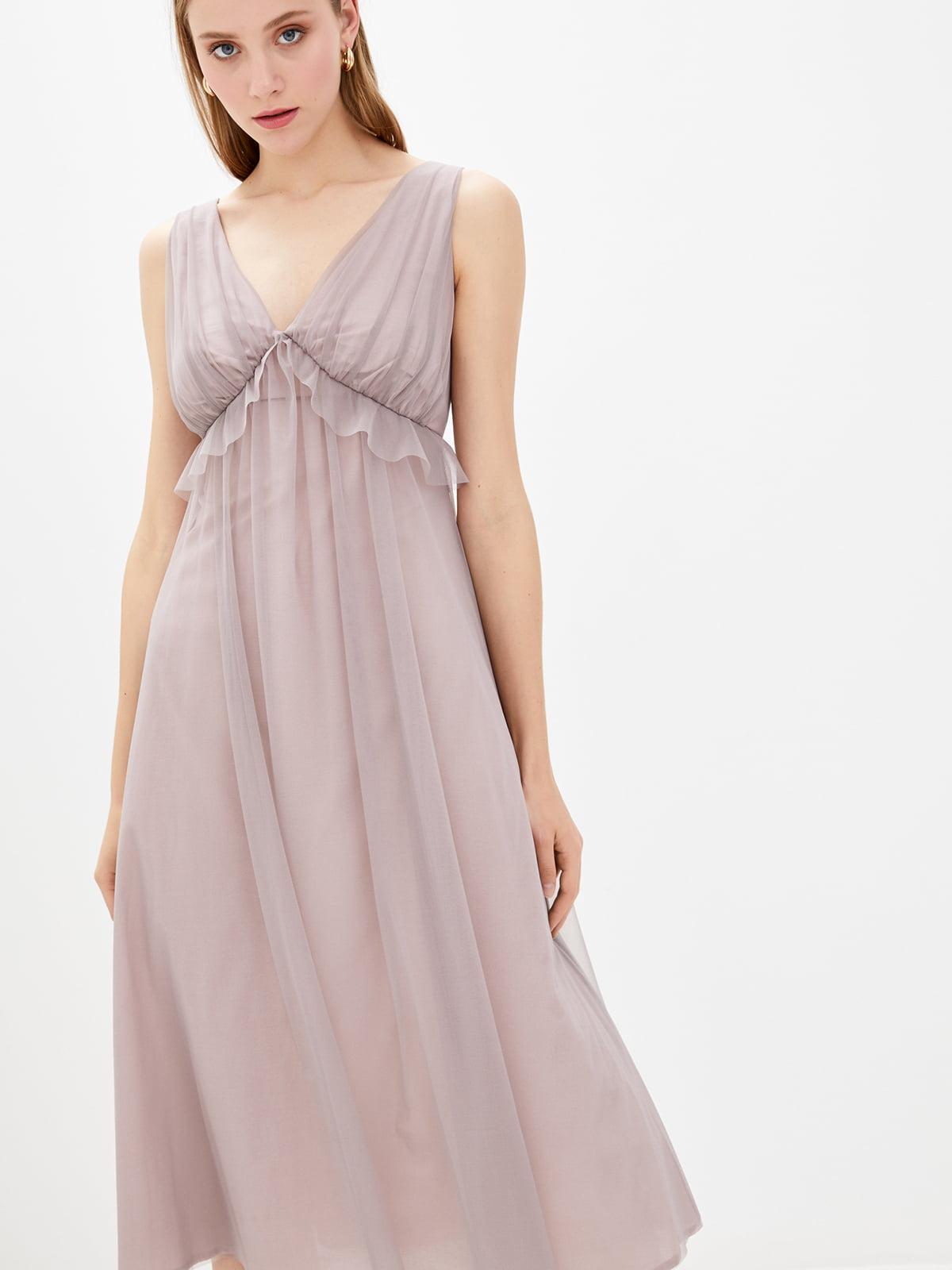 Платье сиреневого цвета | 5596515
