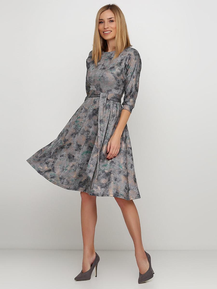 Сукня сіра в принт   5591604