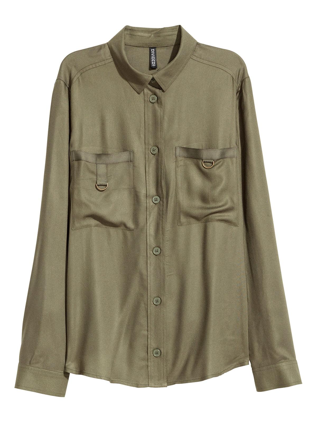 Рубашка цвета хаки | 5586485