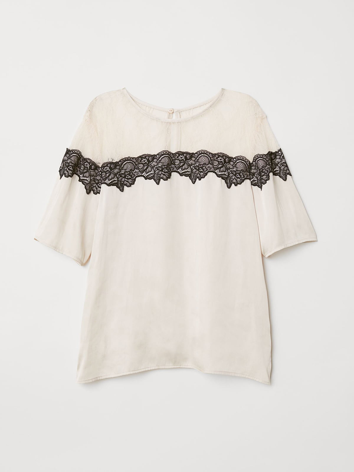 Блуза бежевая с кружевом   5598475
