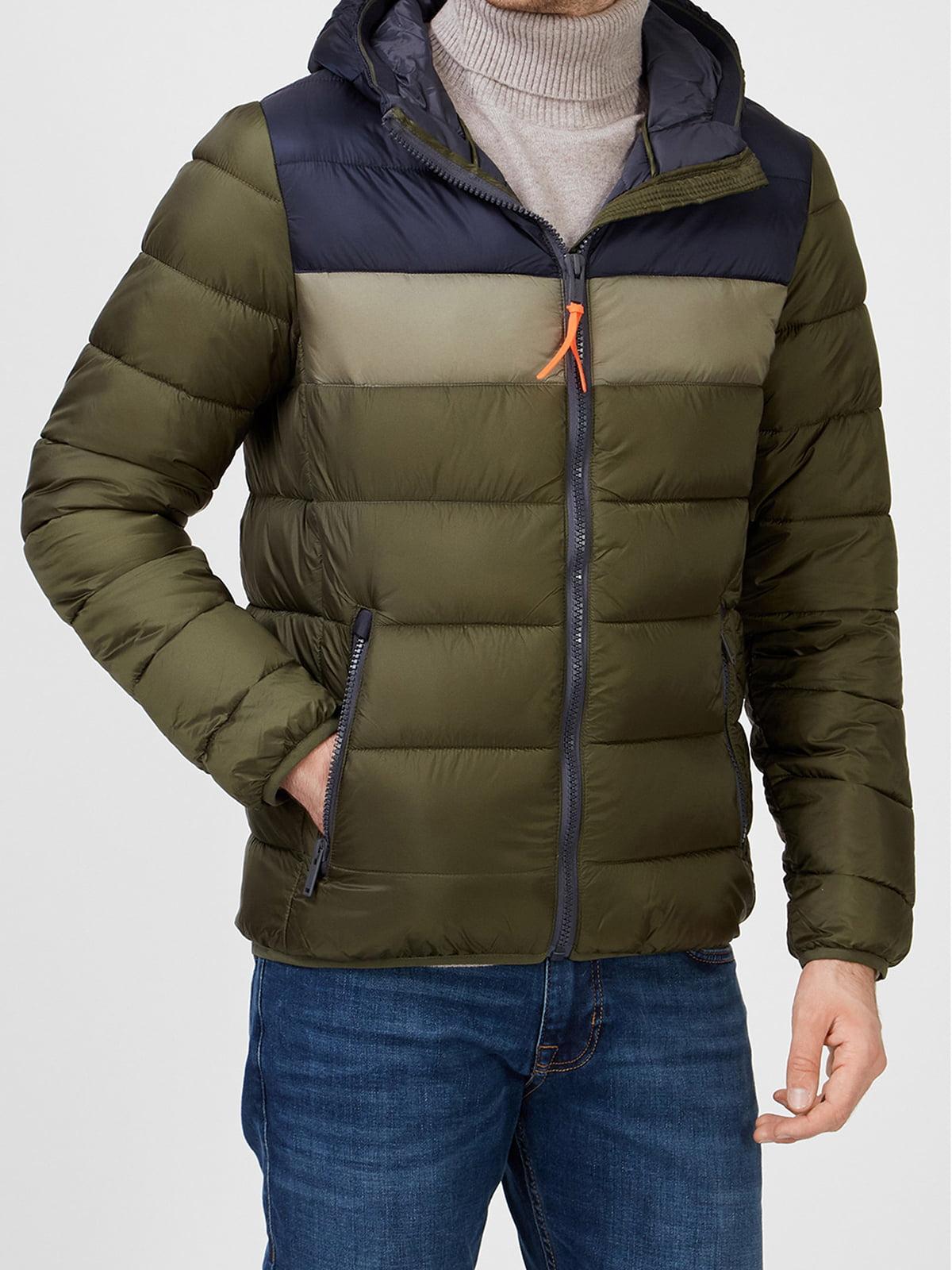 Куртка цвета хаки в полоску | 5606419