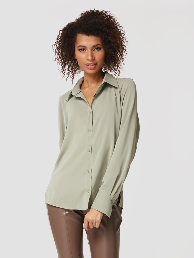 Рубашка оливкового цвета | 5607515