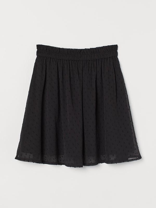Юбка черная с декором   5589495