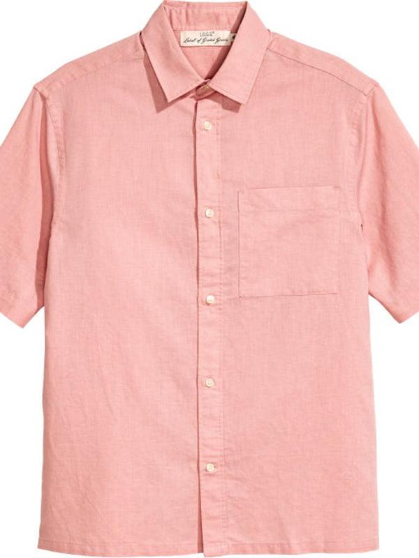 Рубашка цвета пудры | 5604476