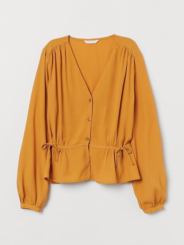 Блуза-рубашка горчичного цвета | 5607230