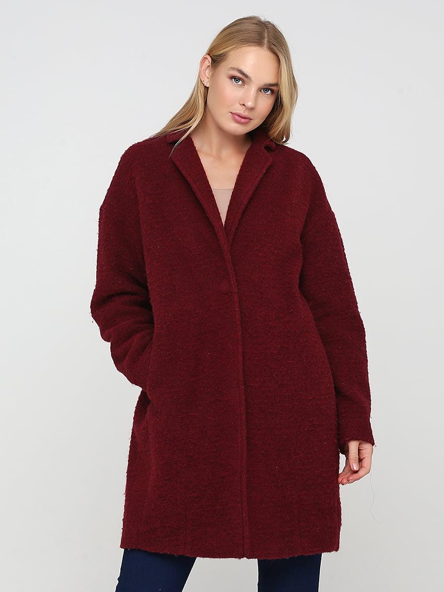 Пальто бордовое | 5538311