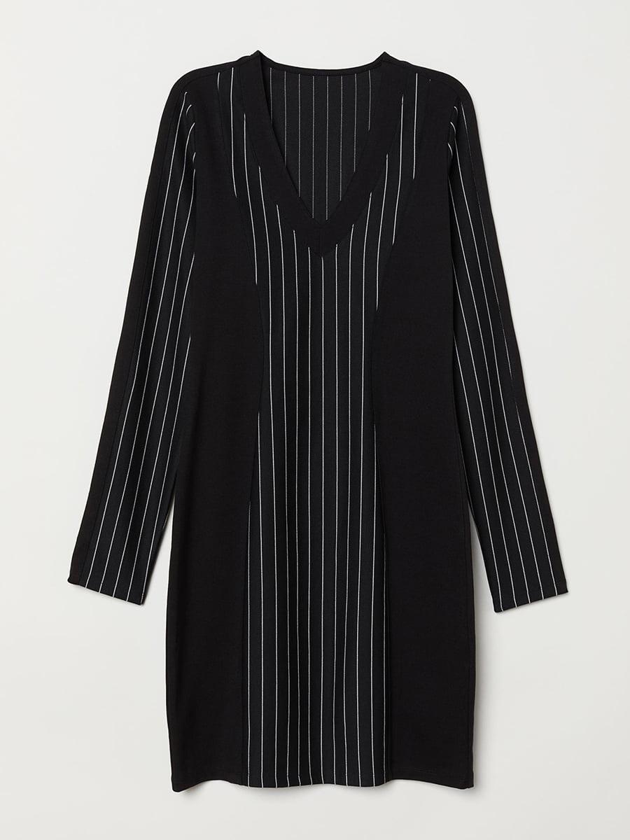 Платье черное в полоску   5608471