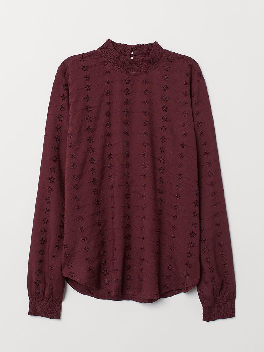 Блуза бордовая | 5608473