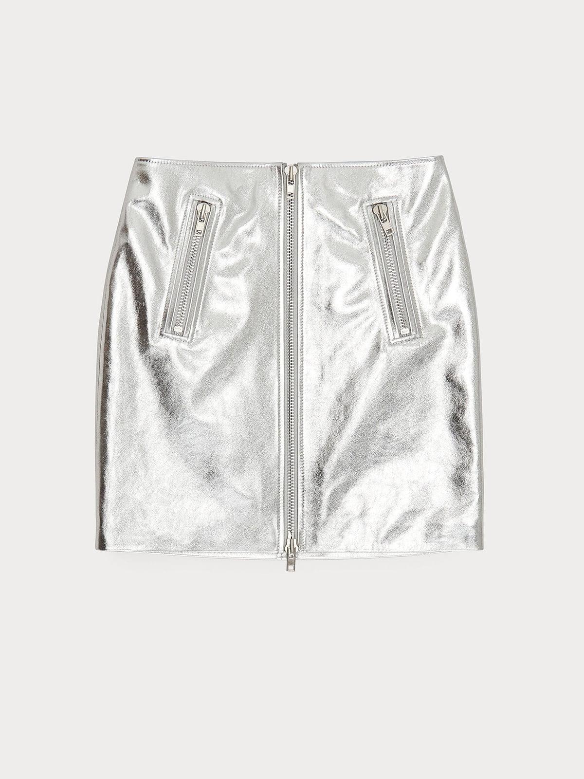 Спідниця сріблястого кольору | 5608917