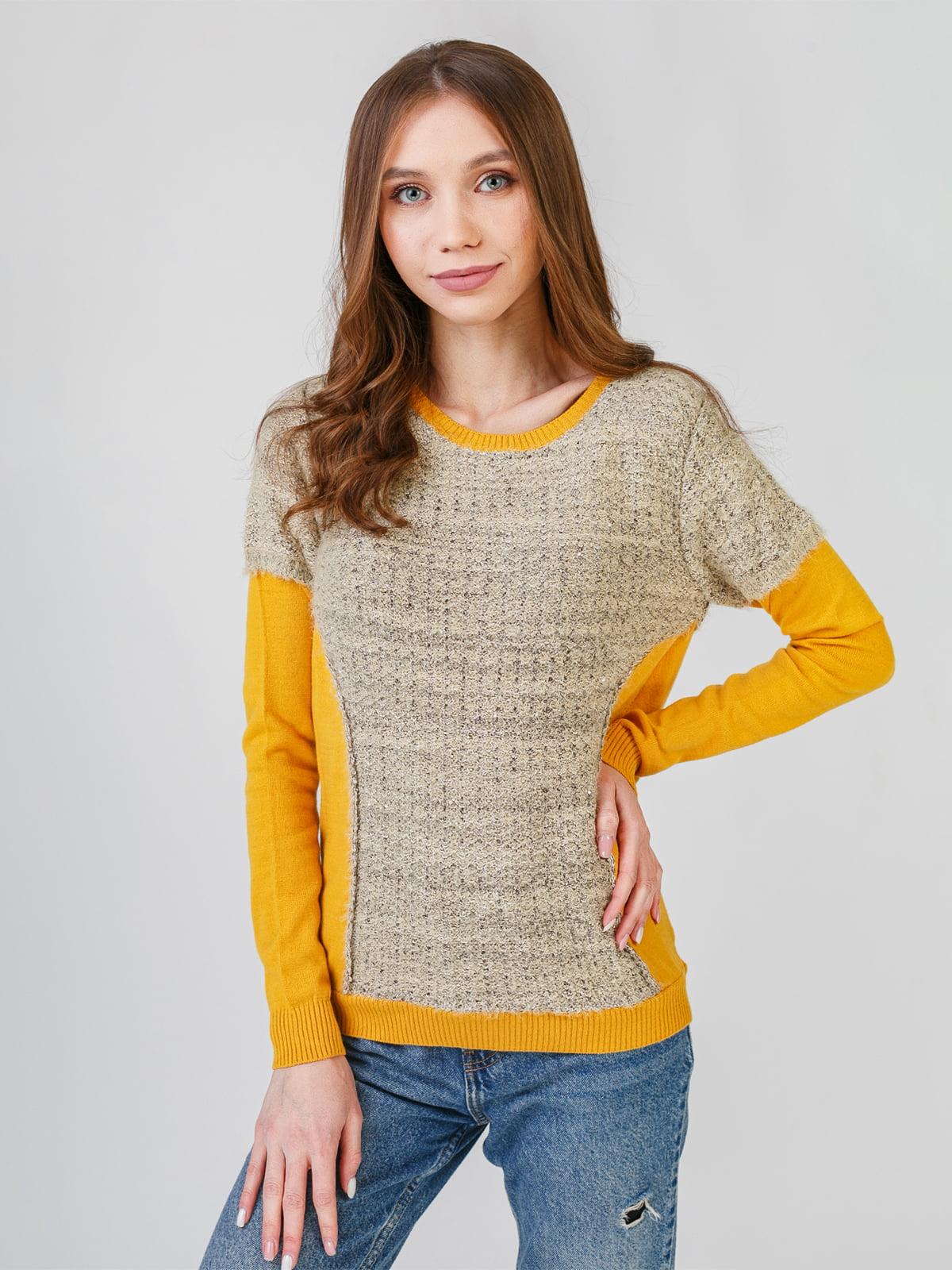 Джемпер коричнево-гірчичного кольору | 5609374