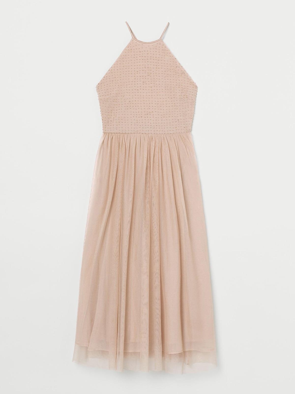 Платье цвета пудры   5610083