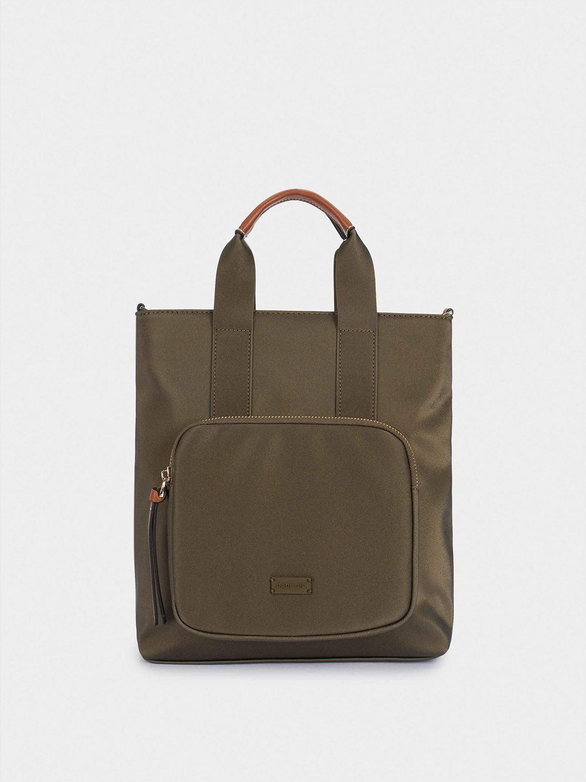 Сумка-рюкзак цвета хаки | 5610220