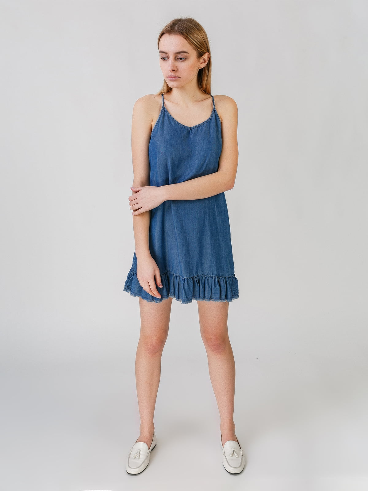 Сарафан синий | 5609511