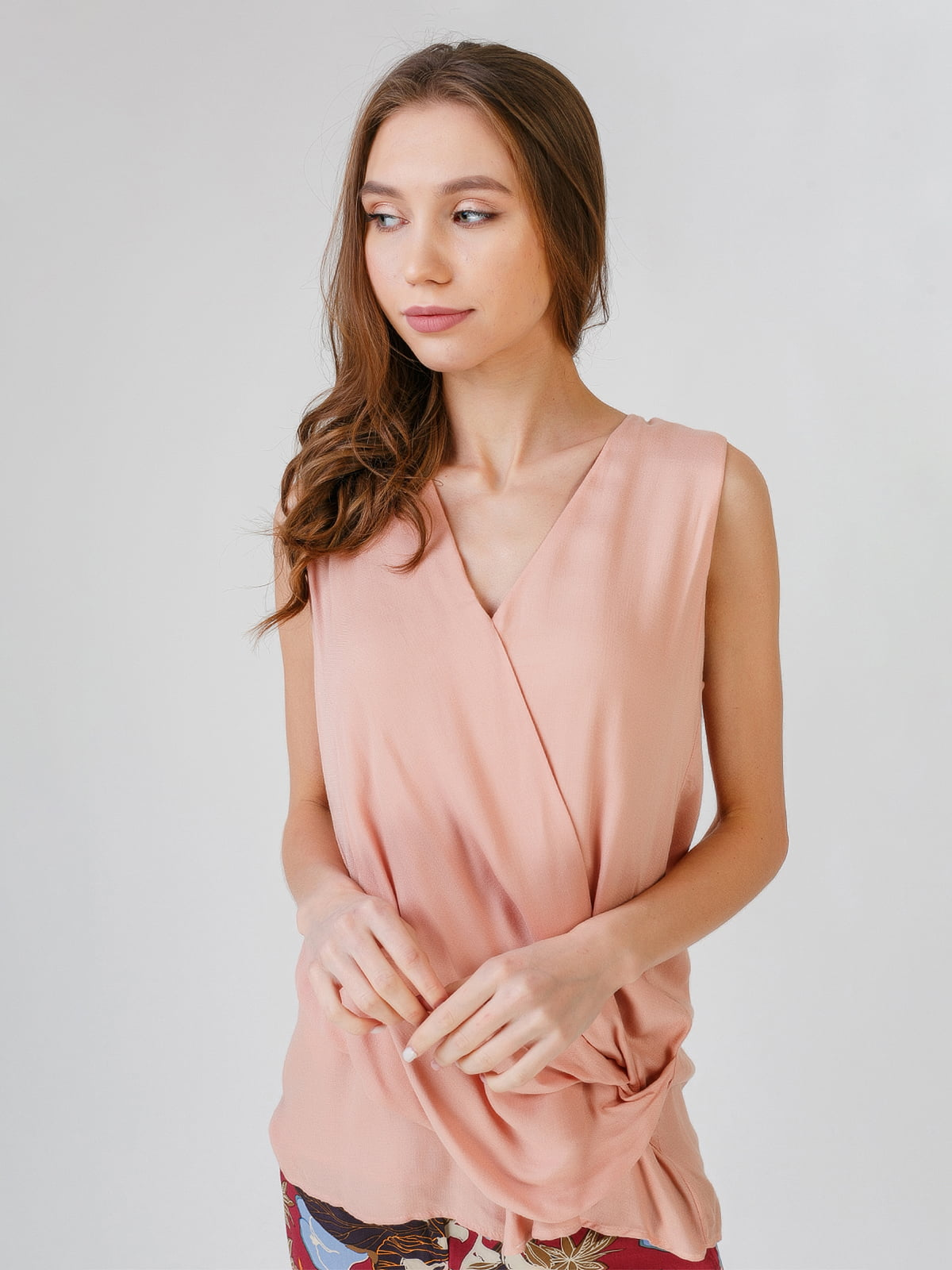 Блуза-топ персикового кольору | 5609539