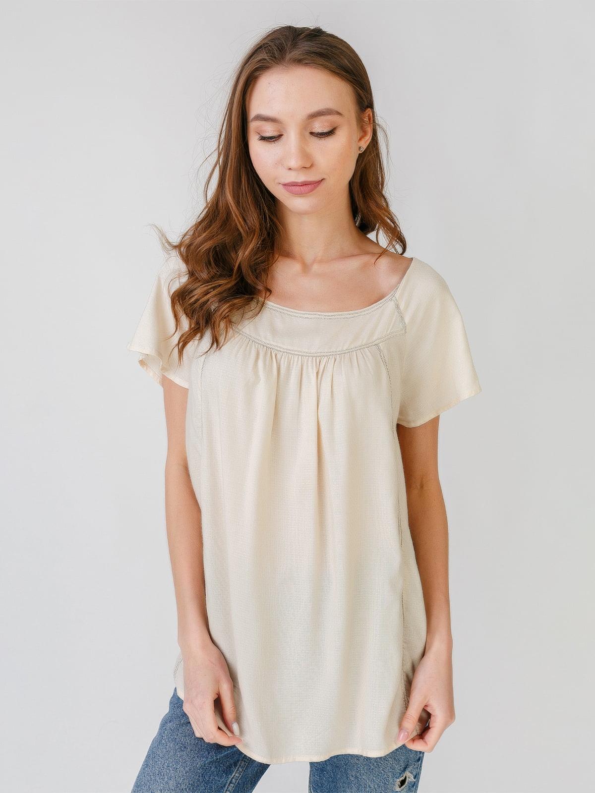 Блуза бежевого кольору | 5609654