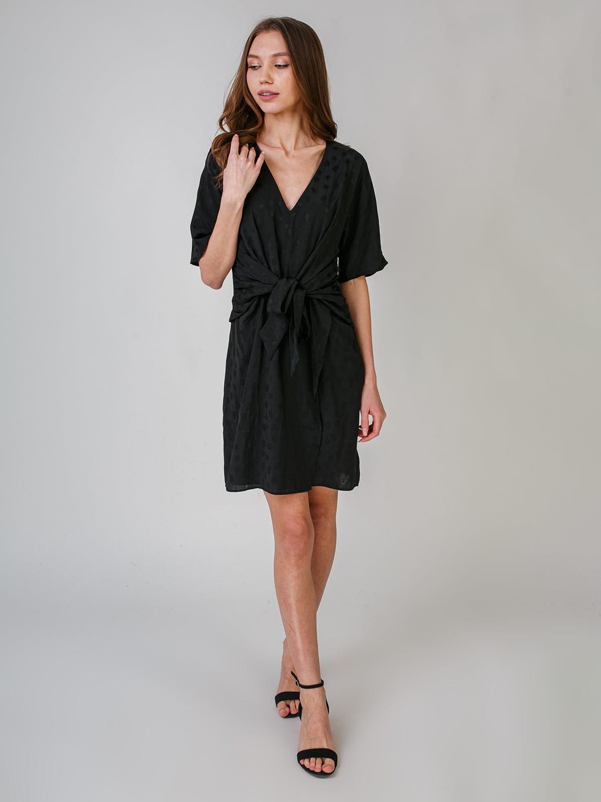 Платье черное в горошек | 5609570