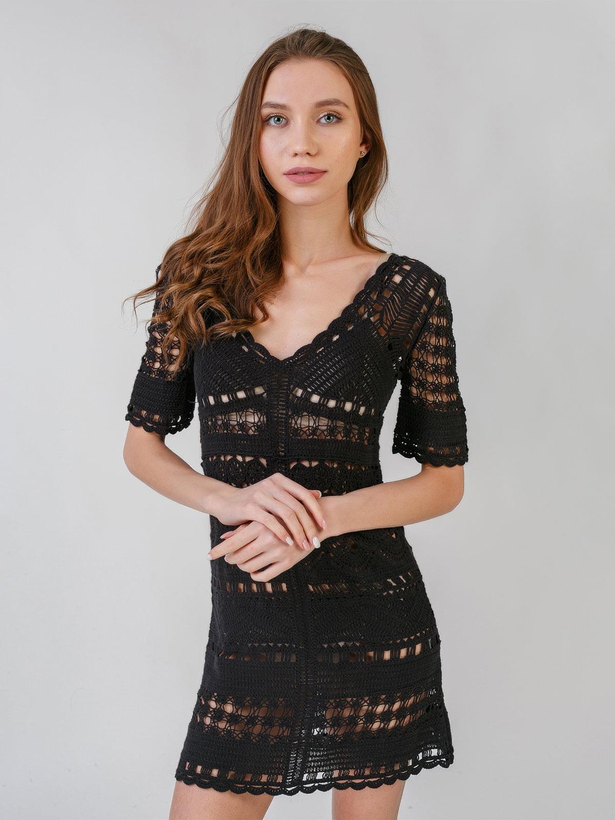 Платье черное с узором | 5609672