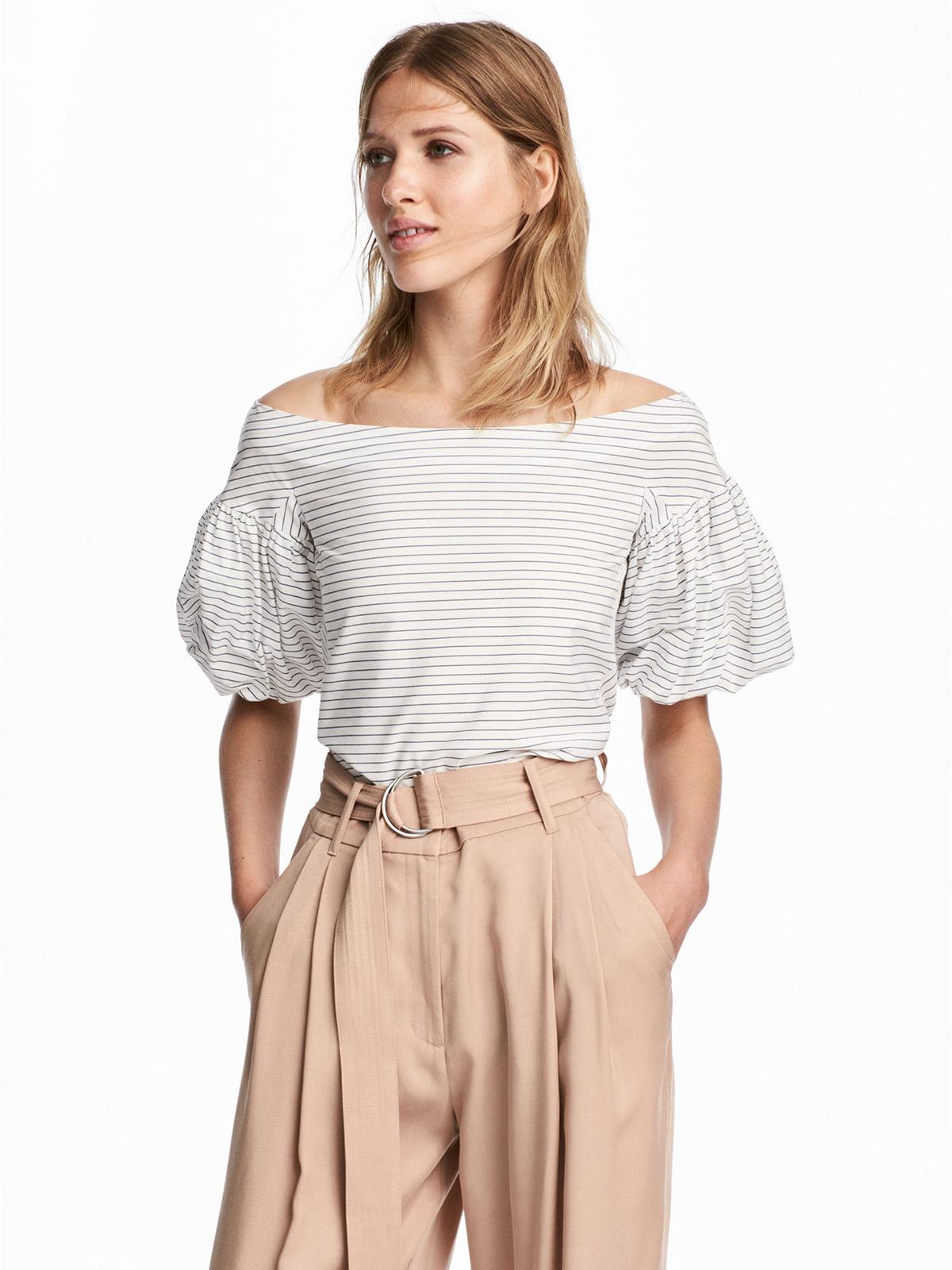 Блуза белая в полоску | 5612966