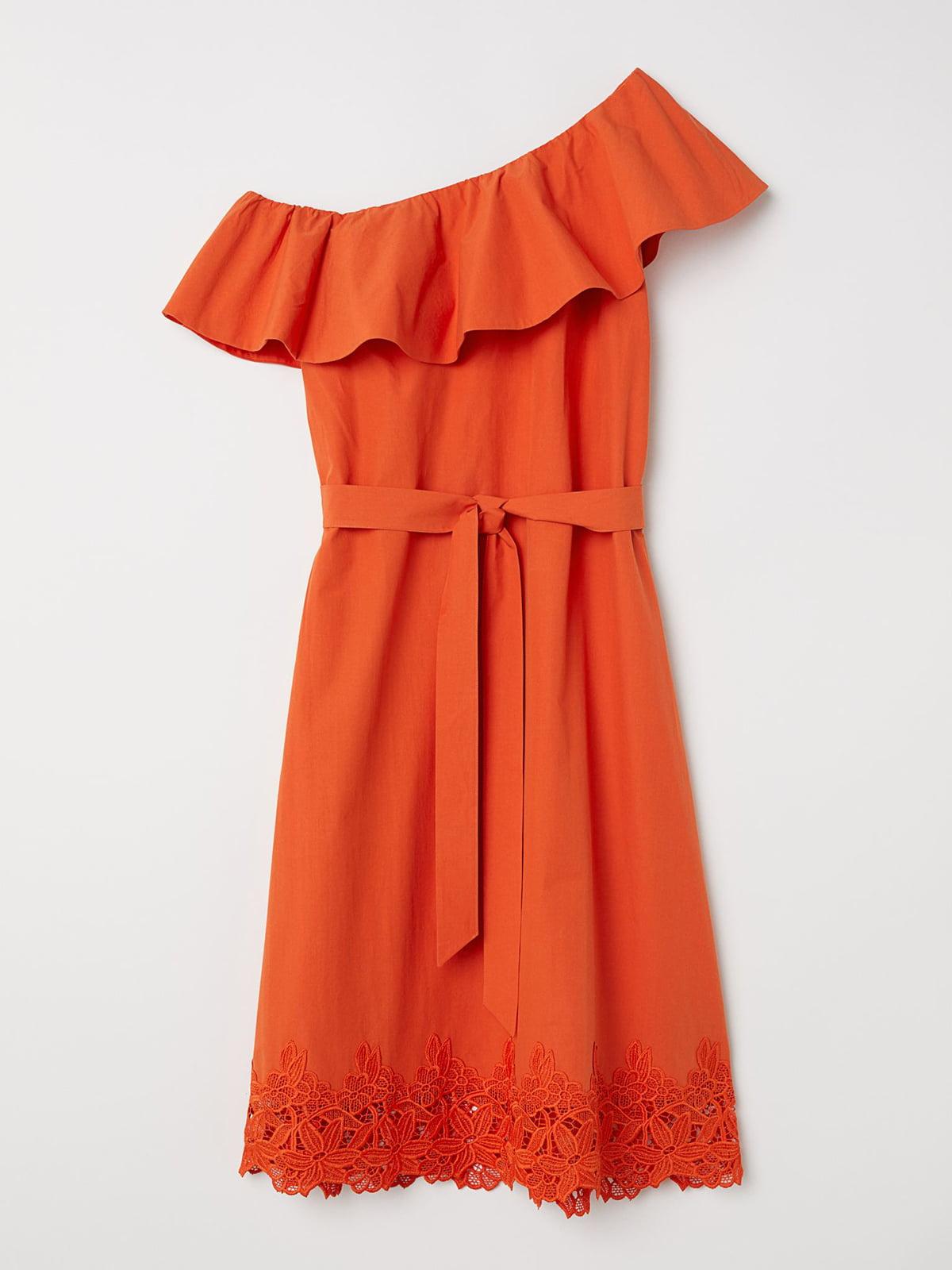 Платье морковного цвета | 5614014