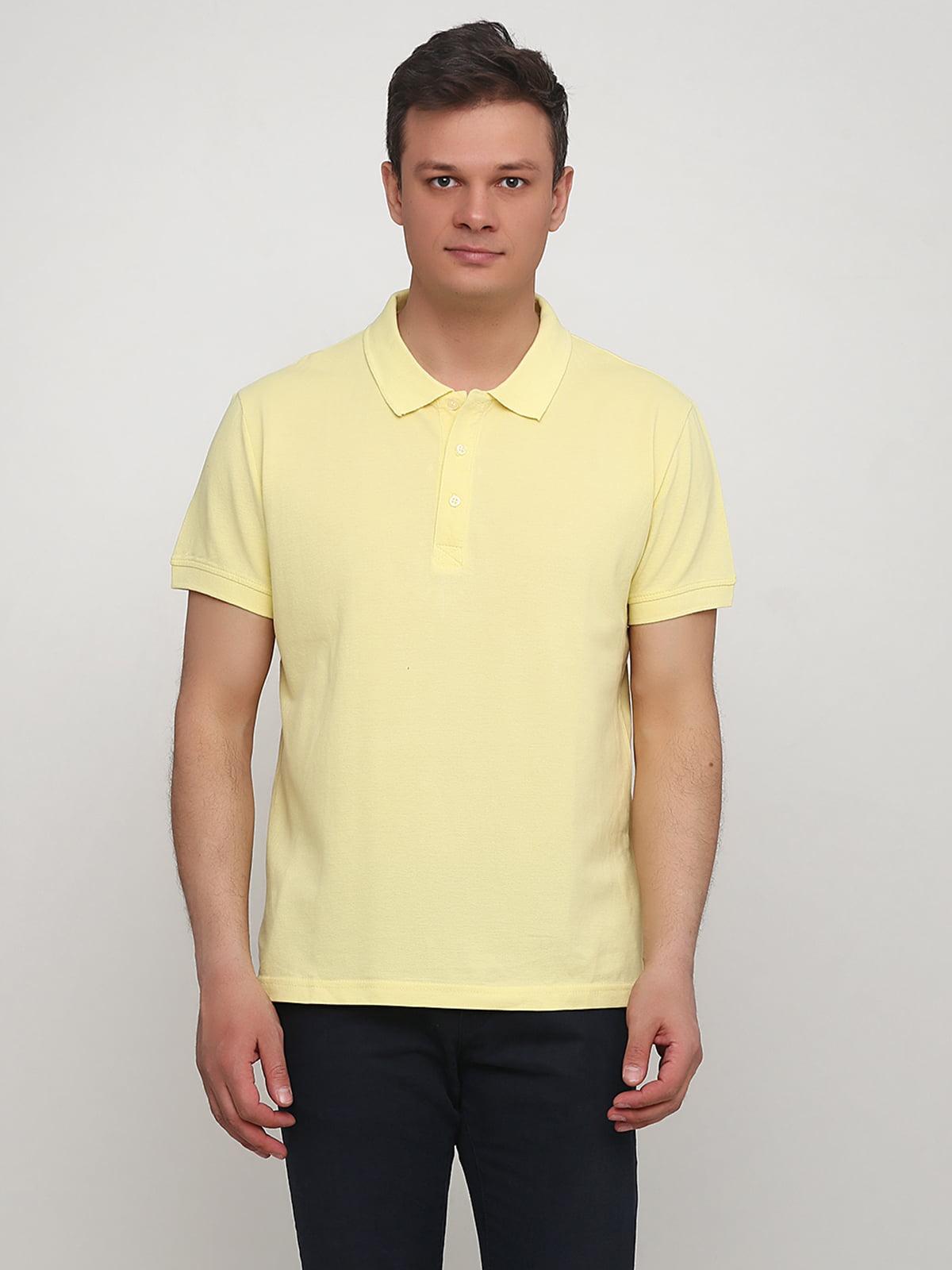 Футболка-поло желтая   5614499