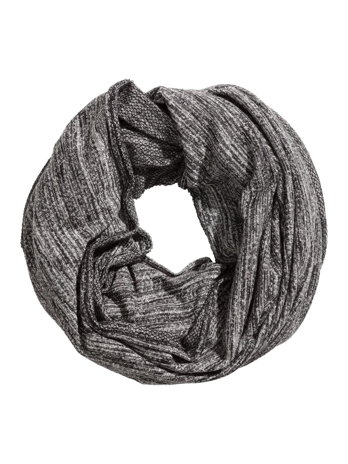 Шарф черно-серый | 5614506