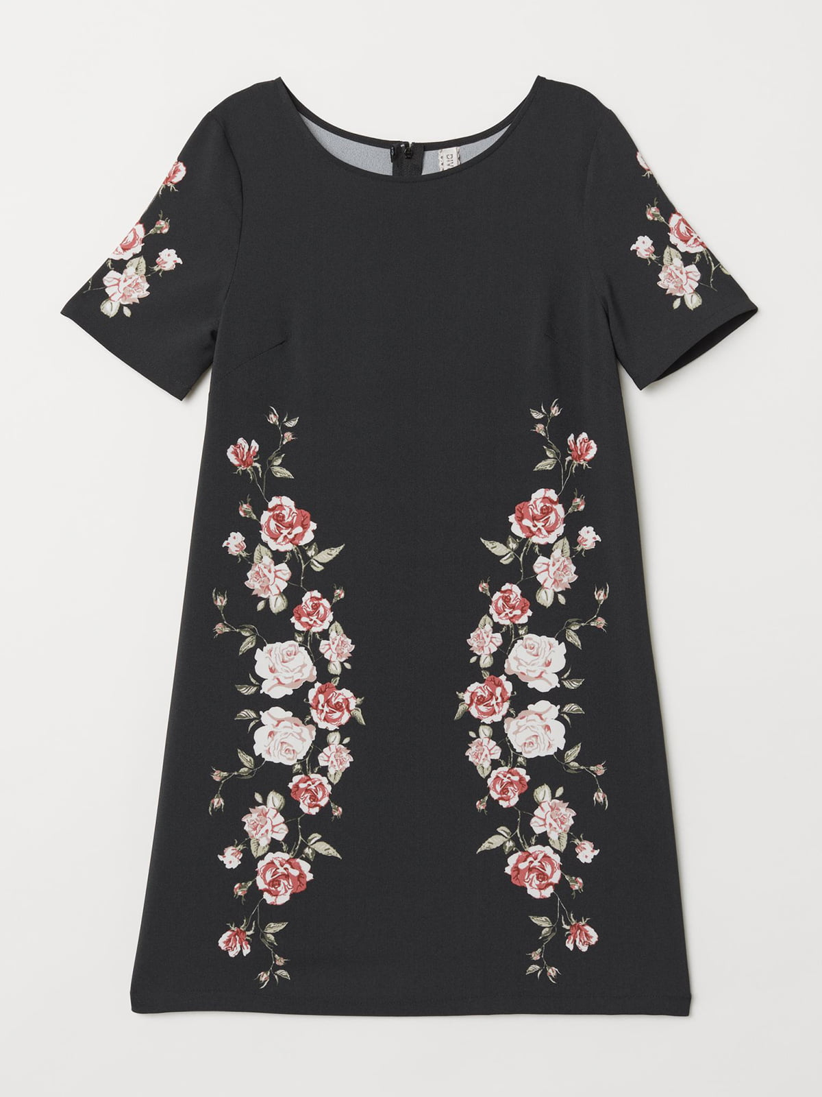 Сукня чорна з принтом | 5614536