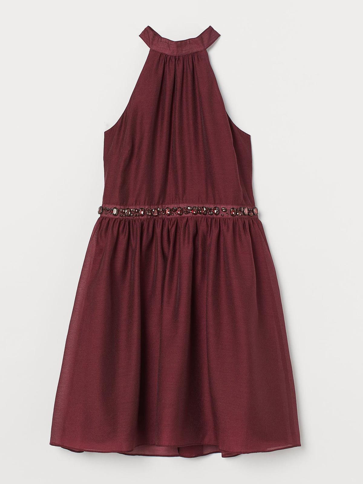 Платье бордовое   5614560
