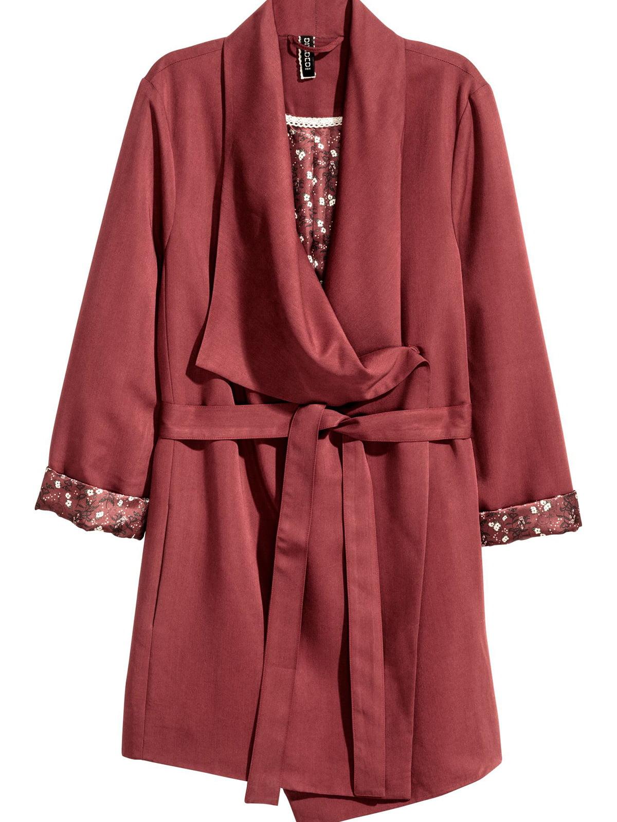 Пальто бордовое | 5614800