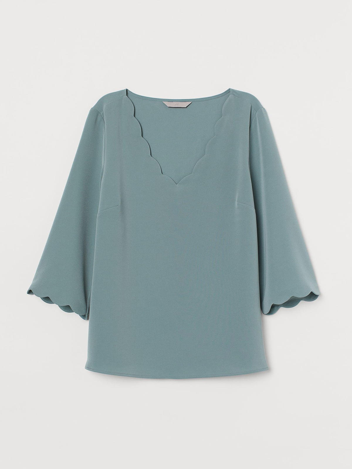 Блуза бледно-бирюзового цвета | 5614860