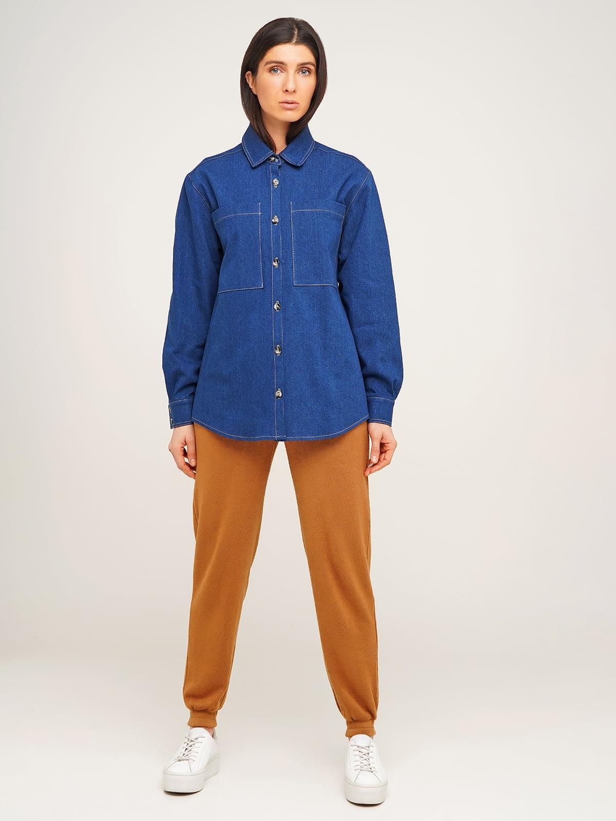 Рубашка синяя | 5610363